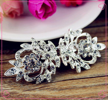 141123124,1pair coat buttons rhinestone buttons Clothing accessories Jewelry Accessories Buckle Button(China)