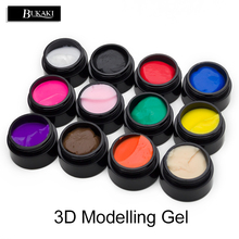 BUKAKI Nail Art 12 Colors 3D Modelling Gel Bio Paint Gel DIY UV Gel Manicure Drawing Painting Manicure Glue(China)