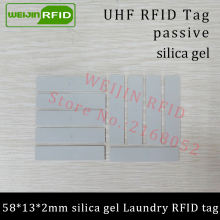 UHF RFID tag laundry soft silica gel Washable heat resisting 915m 868m 860-960M Alien H3 EPC Gen2 6C smart card passive RFID tag(China)