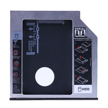 "Universal SATA 2nd HDD SSD Caddy 12.7/9.5mm 2.5"" SATA 3.0 SSD HDD Case Enclosure for Laptop CD / DVD-ROM Optical Bay"