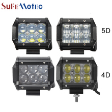 SufeMotec 1Pcs  4 Inch 30W LED Work Light Bar 4D 5D for Tractor Boat OffRoad 4WD 4x4 Truck SUV ATV Headlight
