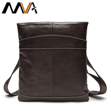 MVA Genuine Leather Men Bag Men Messenger Bags Fashion ipad Flap Crossbody Bags Small Casual Men's Leather Shoulder Bag Man(China)
