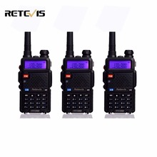 3pcs Handheld Walkie Talkie Retevis RT-5R 5W 128CH Dual Band VHF UHF Radio VOX DTMF Two Way Radio Portable Ham Radio Comunicador