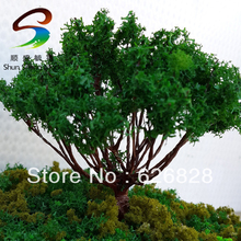 20pcs H :70mm Yellow poplar ball model tree Manufacturer Scale Train Layout Set Model Scale Wire Trees in size