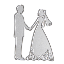 Metal Bride Groom Wedding Cutting Dies Stencils For DIY Scrapbooking Card Paper Craft Photo Album Painting Embossing Decor Craft