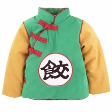 Baby Boys Girls Winter Goku costume Coat Warm Baby Jacket Long Sleeve Infant Toddler Winter Outwear New Year Costume For Boy(China)
