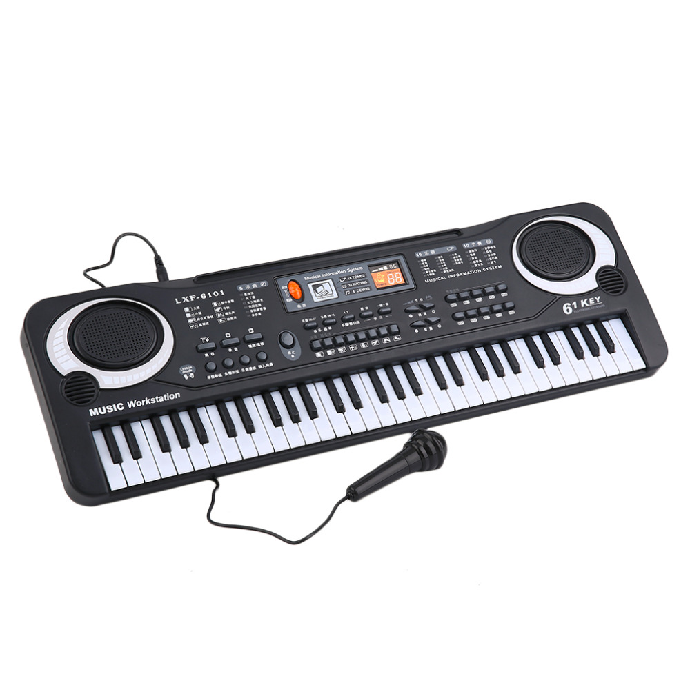 61 Keys Music Electronic Digital Keyboard Electric Organ Children Great Gifts With Microphone Musical Instrument Top quality<br><br>Aliexpress