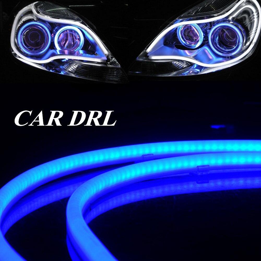 big sale Tube strip style Daytime Running lights turn signal light 2pcs 85cm DRL flexible LED tear strip car headlight<br><br>Aliexpress