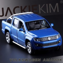 High Simulation Exquisite Caipo Car Styling Volkswagen Amarok Model 1:30 Alloy Truck Model Fast Fruious For Baby Toys Collection