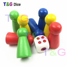 31mm 8pcs pawn/ chess wood game pieces for board game/card game and other games accessories 4 colors
