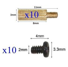 Camera Support 10x Standoffs (3x8mm) and Screws for Board Mount CCTV AHD TVI CVI 1080P IP WIFI IR Cameras(China)