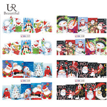 1Sheet Merry Christmas Full Wraps Nail Art Water Transfer Stickers Nail Tips Decals Beauty Manicure Nail Decor BEBN237-240