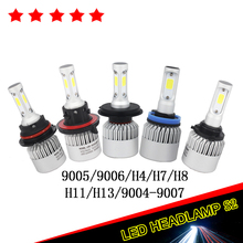 Hot Sale 2 Pcs 12V Headlight H7 Led Kit H11 H4 Led Cob Auto Bulb Led Lamp Fog Car Light Single/Hi-Lo Beam For Toyota Car-Styling