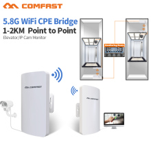 5.8G COMFAST Long Range Wireless Outdoor Router CPE Antenna 300M AP Network Wifi Repeater Access Point Amplifier nano station(China)