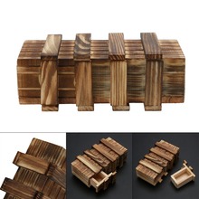 Funny Magic Compartment Wooden Puzzle Box With Secret Drawer Brain Teaser Baby Kid Puzzles Toy(China)