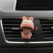 Long ears Rabbit Hat Kiki Car perfume Air conditioner outlet perfume clip Air Freshener Car decorations Automobile styling