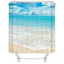 Bathroom Products Shower Curtains Bathroom Curtain Waterproof Accessories Beautiful View of The Beach The Shower Curtain Y-099