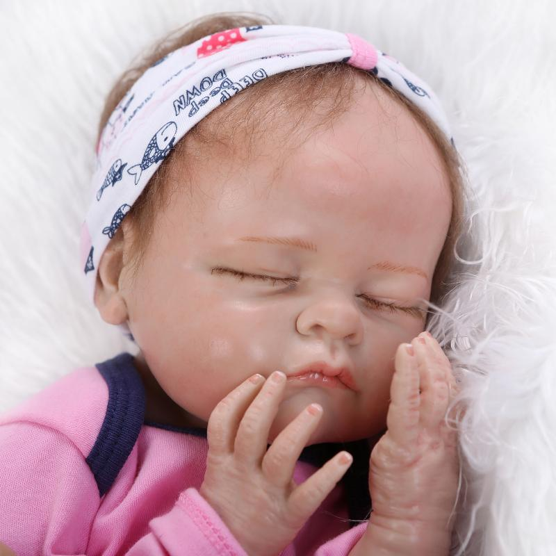 Real solid silicone reborn dolls babies soft touch lifelike baby alive boneca children toys birthday gift(China)