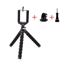 New mini Flexible Octopus tripod With Screw 360 Degree Roating head Universal For GoPro Accessories Hero 5 4 3+2 1 for Xiaomi(China)