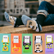 Factory store wholesale American personality funny cartoon socks face pattern will speak socks cotton couple socks cheap sale