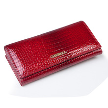 famous brand women wallets genuine leather long purse luxury brand women wallet real leather ladies coin purse(China)
