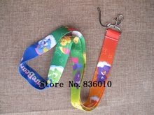 Hot Sale! 10 pcs Popular Colourful Bear  Key Chains Mobile Cell Phone Lanyard Neck Straps    Favors SZ-199