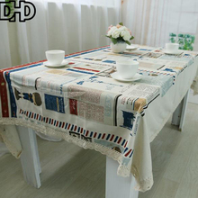 Simanfei 2017 New Europe Modern Graffit Printed 100% Cotton Tablecloth Rectangular Wedding Party Table Cloth Toalha de mesa