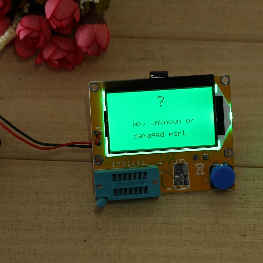2X LCR T4 ESR Combo Digital Transistor Tester Diode Triode Capacitance indutor resistor MOS/PNP/NPN + Teste clipe 6