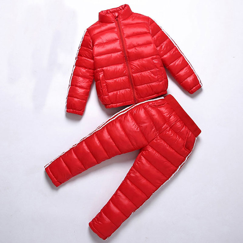 2017 Autumn Winter Down Clothing Set for Child Boys Girls Fashion Warm Outerwear Sport Kids Suits Childrens Cotton Cloth Set<br>