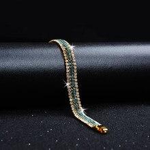 Fashion Charm Women Full Crystal Cubic Zirconia Gold Color Cuff Bracelet  Bangle Wristband Women Wedding Bridal Jewelry Gift 88d6e5fc57bf