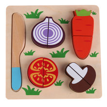 Baby Wooden Toys Cooking Kitchen Toys Radish Vegetables Cut Kids Food Pretend Play Educational Toy Cook Cosplay Baby Kitchen Toy(China)