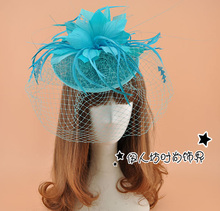 8colors Wedding Hats For Bride Feather Cheap Fascinator Hats Wedding Hat Veils Hair Acessories Wedding Bridal Birdcage