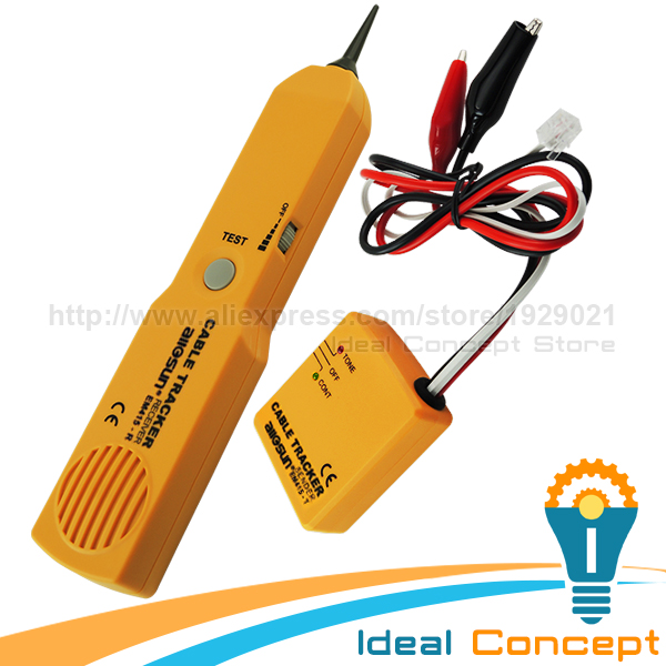 Cable Tracker Wire Tracer Telephone Line Tester Continuity Network Phone Single Dual Tone Test<br>