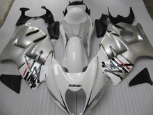 Motorcycle Fairing kit for SUZUKI Hayabusa GSXR1300 96 99 07 GSXR 1300 1996 1999 2007 ABS White silver Fairings set+7gifts SD09