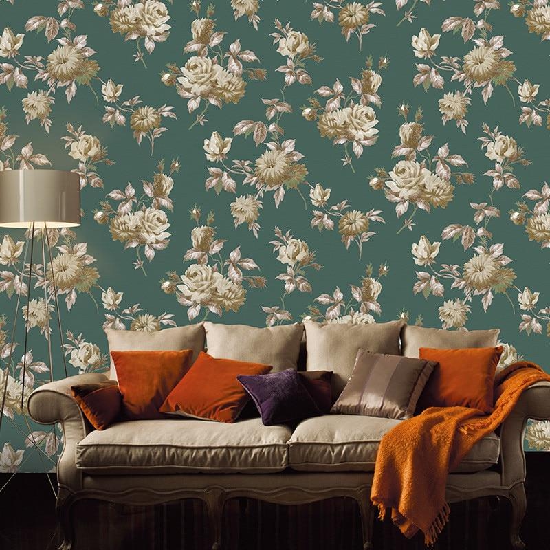 Beibehang Wallpaper non-woven garden flower style bedroom living room sofa TV background wallpaper for walls 3 d papier peint<br>