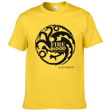 House Targaryen Dynasty Dragon T-shirts Men Cotton Short Sleeve Tshirts Game of Thrones Fashion T shirt Casual Tees Tops #249(China)