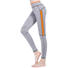 Women Casual Fitness Legging Spliced Elastic Waist Skinny Pencil Pants AnKle-Length Sporting Jegging Pant Capris For Female(China)