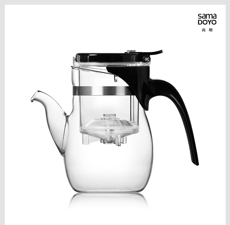 2017 Washable filter glass heat-resistant glass tea set tea pot Cup 600ML instant heating type eletric kettle<br>