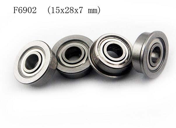 (25 PCS) (F6902zz) (15x28x7 mm) Flange Metal Shielded Ball Bearing F6902z<br>