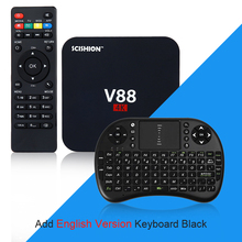 SCISHION V88 Set-top Box Android 5.1 1GB 8GB Smart TV Box 3229 Quad Core 4K H.265 WiFi Media Player eMMC ROM Mini PC PK X96 A95X
