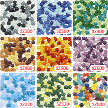 200g Crystal Glass Free Stone Colorful Mosaic tile_ backsplash kitchen wall tile sticker bathroom floor feet massage tile(China)