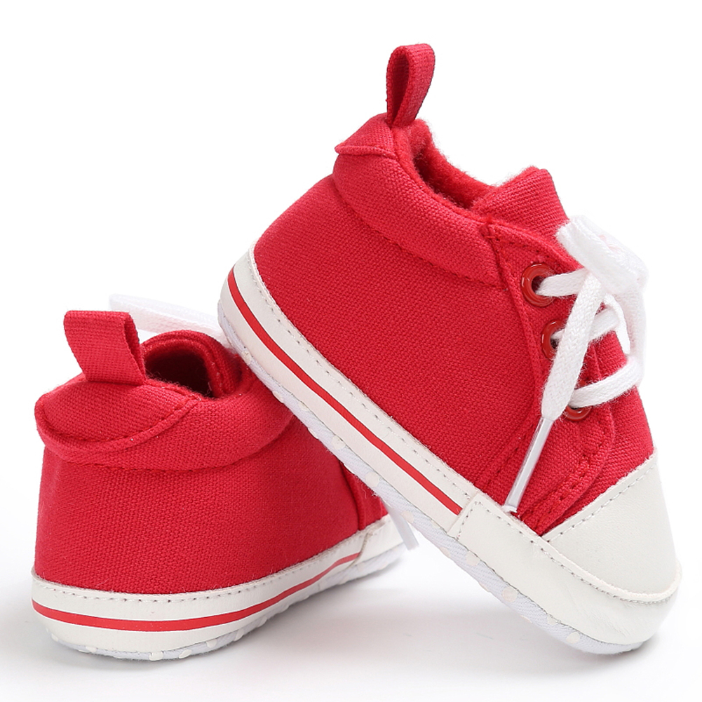 Spring Summer Newborn Canvas Shoes Sneaker Fashion 0-18 Month Baby Girls Boys Solid Soft Sole Shoes Prewalker First Walkers 14
