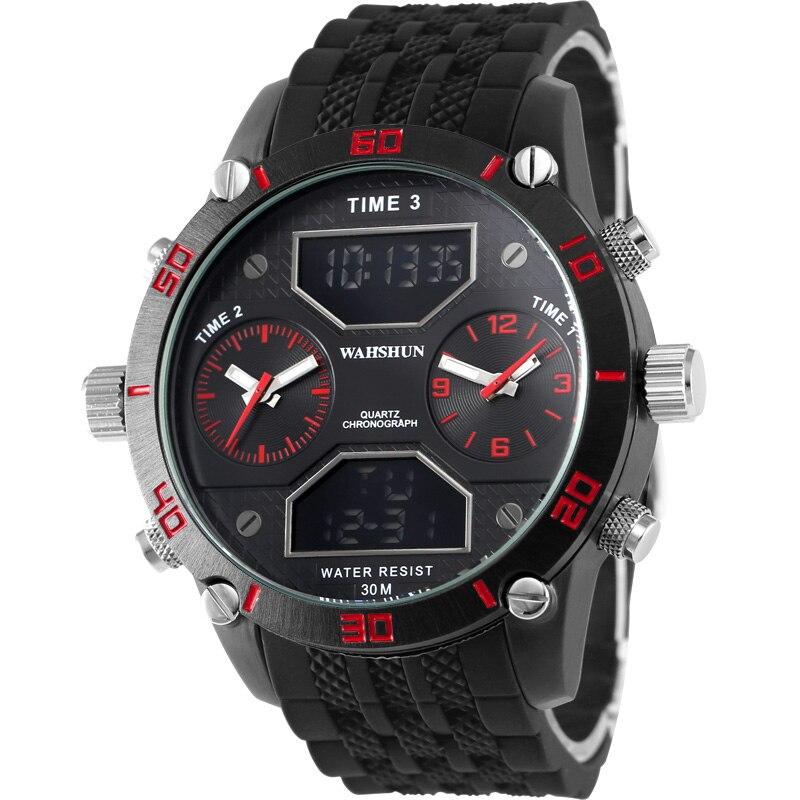 Luxury Brand Fashion Men Military Sports Watches Mens Quartz Digital Auto Date Clock Man Orange Color Strap Casual Wrist Watch<br>
