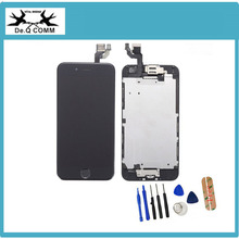 Black white For iPhone 6 complete LCD Touch Screen Digitizer Assembly +speaker+camera+sensor flex full+home button+tools