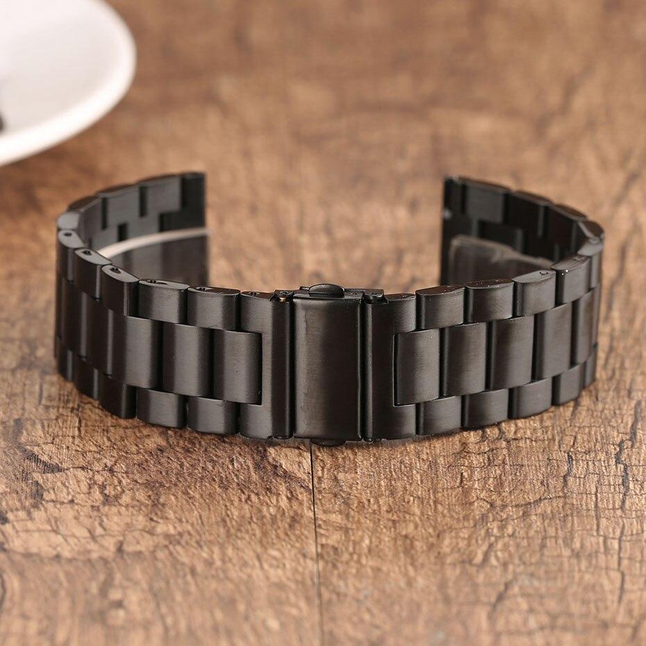 2022 mm Universal Milanese Watchband Quick Release Watch Band Mesh Stainless Steel Strap Wrist Belt Black Bracelet (10)