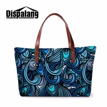 Dispalang Girls Shoulder Handbag Flower Pattern Artistic Large Tote Bags Lightweight Patchwork Hand Bags for Women Messenger Bag(China)