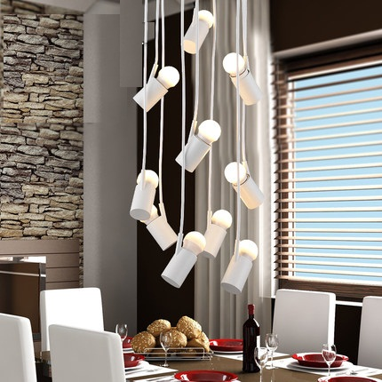 Simple Creative Iron Droplight Modern LED Pendant Light Fixtures For Dining Room Hanging Lamp Indoor Lighting Lamparas<br>