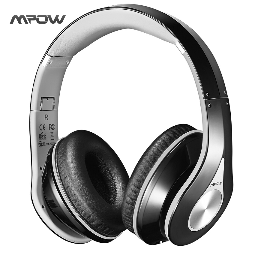 Mpow MPBH059AH On-Ear  Bluetooth Headphones with Noise Cancelling Stereo, Foldable Headband, Ergonomic Designed Soft Earmuffs<br>