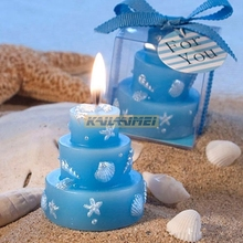 50pcs Blue Ocean Style Candle Birthday Cake Wax Candle Party Christmas Wedding Star Scented Home Decoration