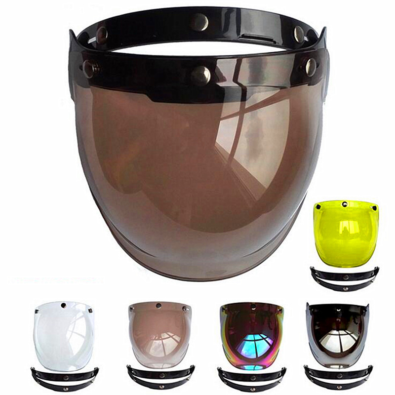 2017 New Men Women Open Face Motorcycle Helmet Bubble Visor Lens Motorbike Glasses for Harley & Jet Helmet Sunglasses(China)